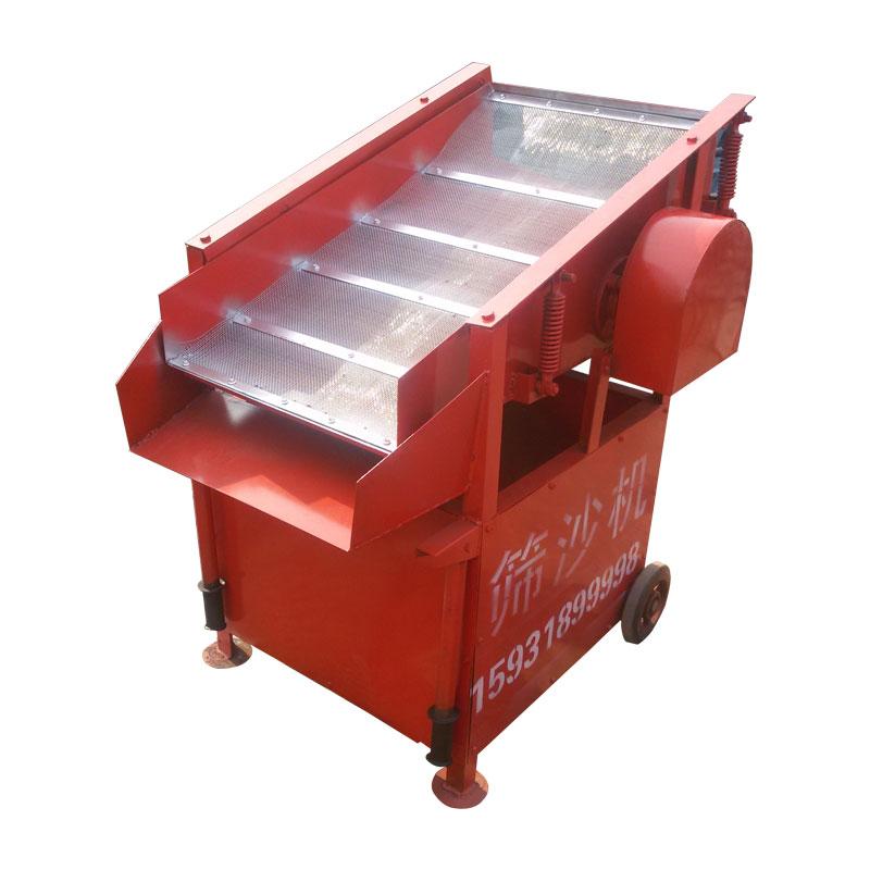 腾博小型振动筛沙机建筑工地用震动筛沙机